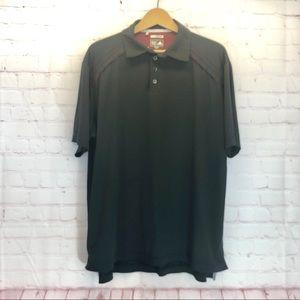 Adidas Clima Cool Mens Black Polo Shirt